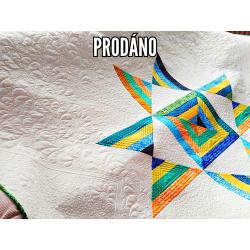 PRODÁNO-PATCHWORK PŘEHOZ/DEKA - OHIO STAR