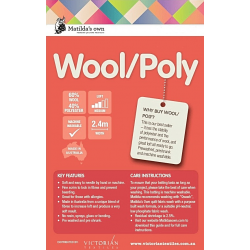 MATILDA - vlněný vatelín   wool/poly Matildas Own - 1