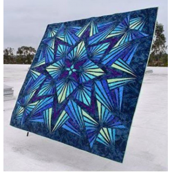 Quilt Kit Crystal Sapphire 90in x 90in HOFFMAN FABRICS - 4