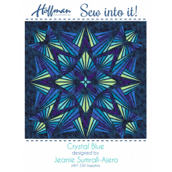 Quilt Kit Crystal Sapphire 90in x 90in HOFFMAN FABRICS - 1