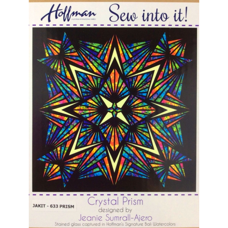 Quilt Kit Crystal Prism 90in x 90in HOFFMAN FABRICS - 1