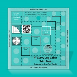 """Non-Slip Curvy Log Cabin Trim Tool 4"""""""