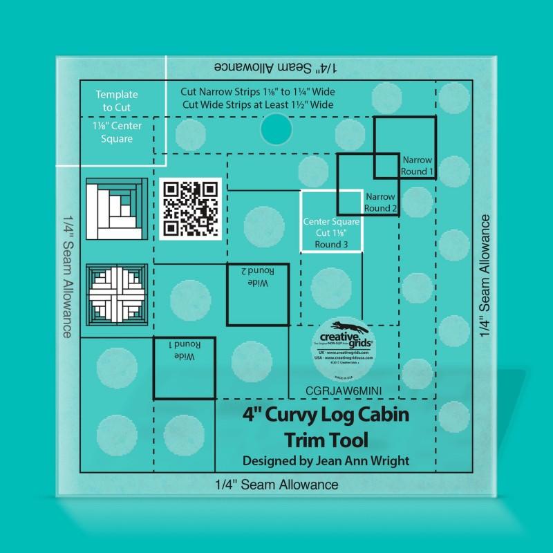 "Non Slip Curvy Log Cabin Trim Tool 4"" CREATIVE GRIDS - 1"