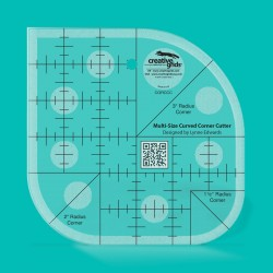 Non Slip Curved Corner Cutter Ruler CREATIVE GRIDS - 1
