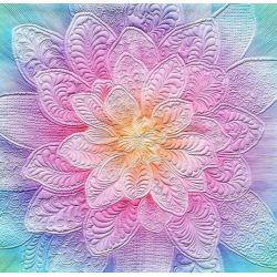 DREAM BIG FLOWER BLOOM PANEL OPAL HOFFMAN FABRICS - 2
