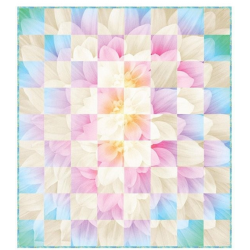 DREAM BIG FLOWER BLOOM PANEL OPAL HOFFMAN FABRICS - 3