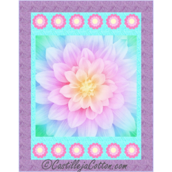 DREAM BIG FLOWER BLOOM PANEL OPAL HOFFMAN FABRICS - 4