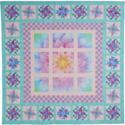 DREAM BIG FLOWER BLOOM PANEL OPAL HOFFMAN FABRICS - 5