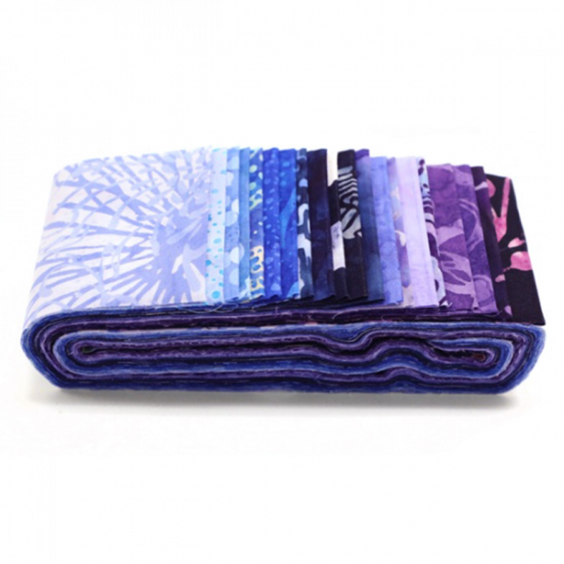 BLUE HAWAIIAN - JELLY ROLL Wilmington prints - 1
