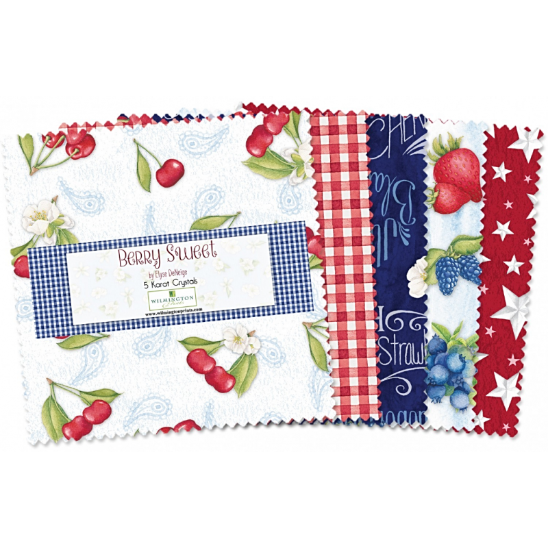 BERRY SWEET - CHARM PACK -42 ks Wilmington prints - 1