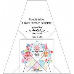 DOUBLE WIDE FOUR PATCH DRESDEN RULER ME AND MY SISTER DESIGN - 1