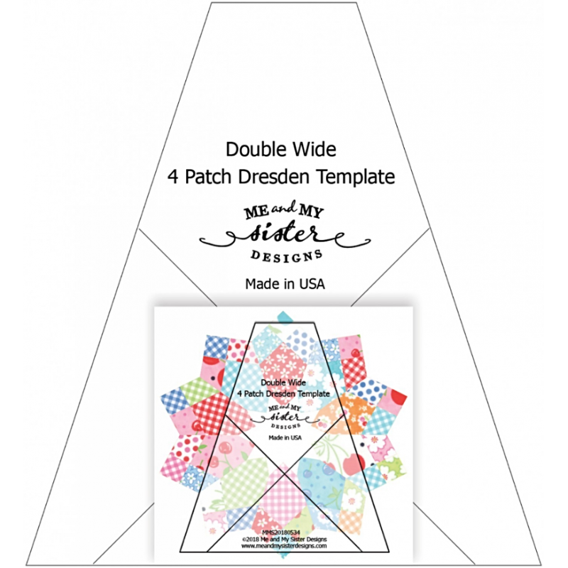 DOUBLE WIDE FOUR PATCH DRESDEN RULER