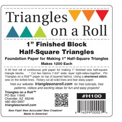 Triangles on a Roll 1in Half Square