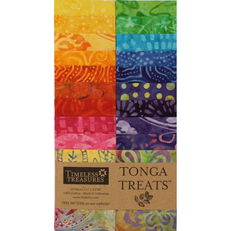 TONGA BATIK RIO - JELLY ROLL 20 ks Timeless Treasures - 2