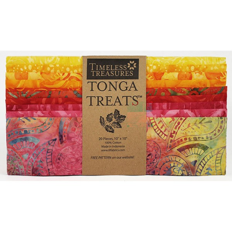 TONGA BATIK RIO - LAYER CAKE-20 ks Timeless Treasures - 2