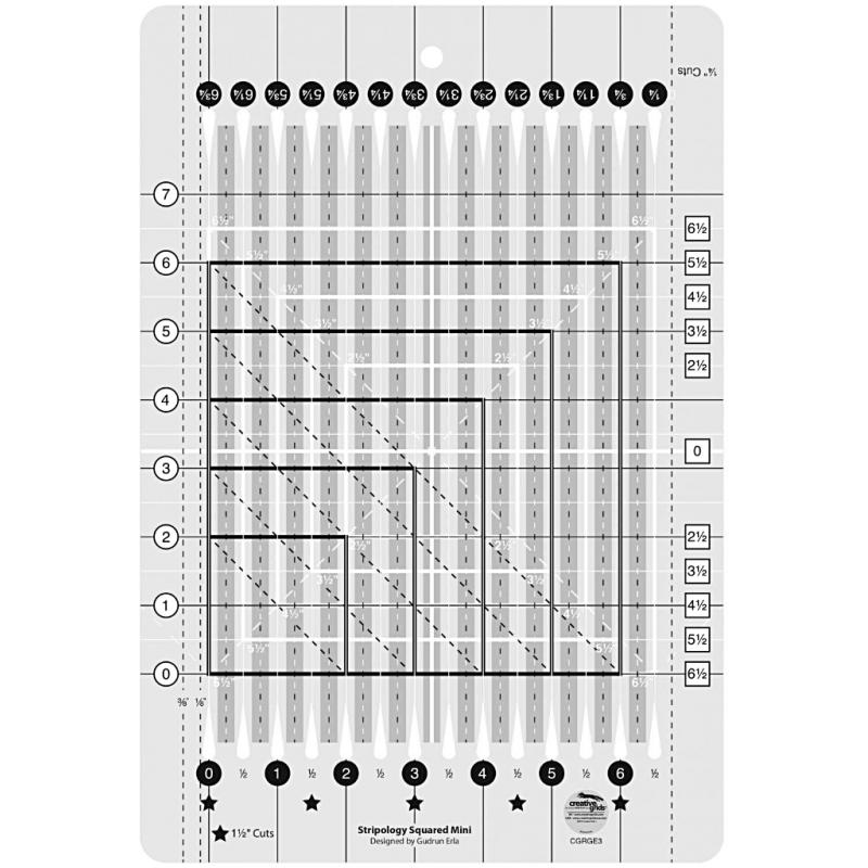 Stripology Squared Mini Ruler CREATIVE GRIDS - 1