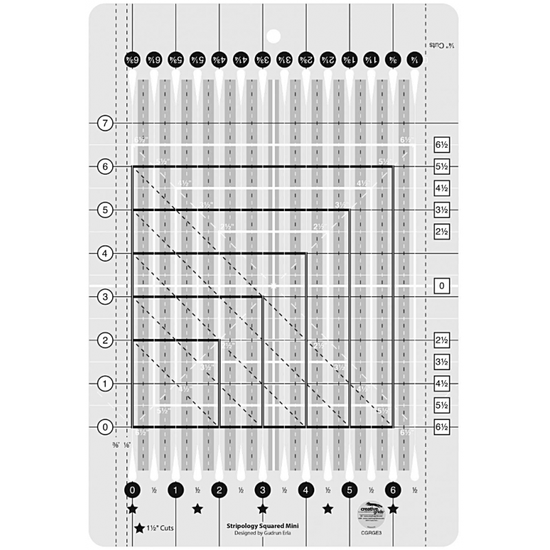 Stripology Squared Mini Ruler CREATIVE GRIDS - 1