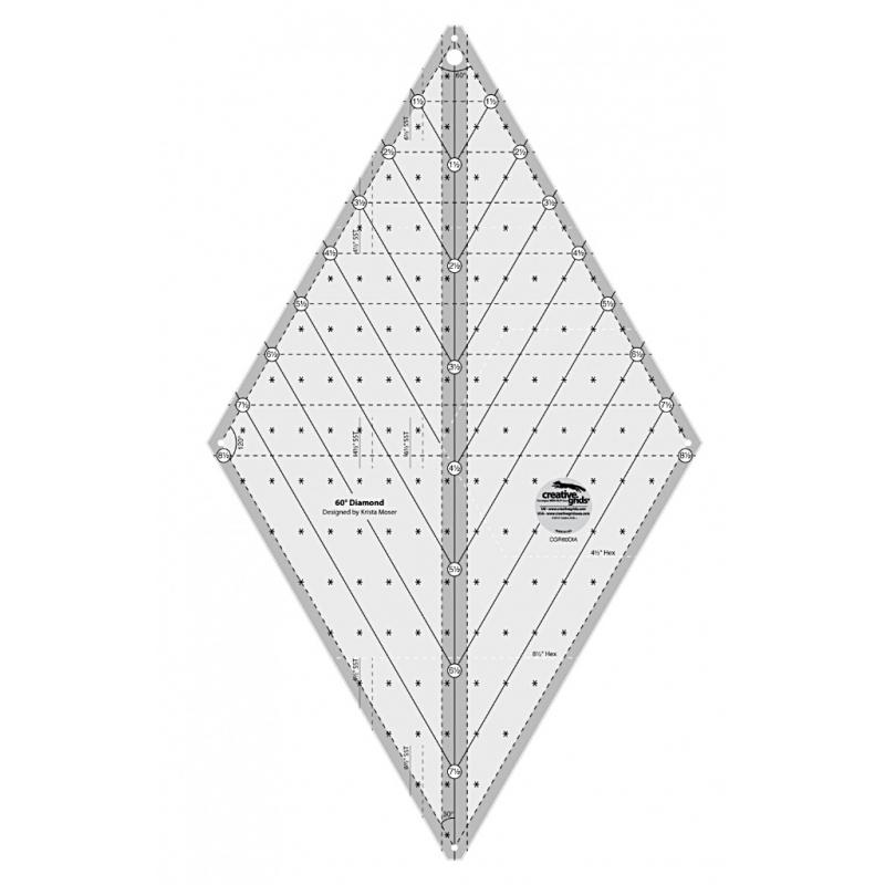 60 DEGREE DIAMOND RULER CREATIVE GRIDS - 1