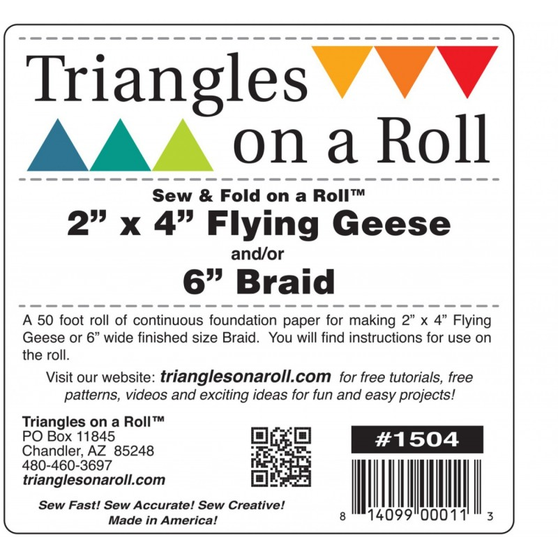 Flying Geese / Braids On And Roll 2in x 4in