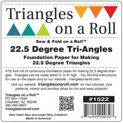 Triangles On A Roll 22 Degree Triangle TRIANGLES ON A ROLL - 1