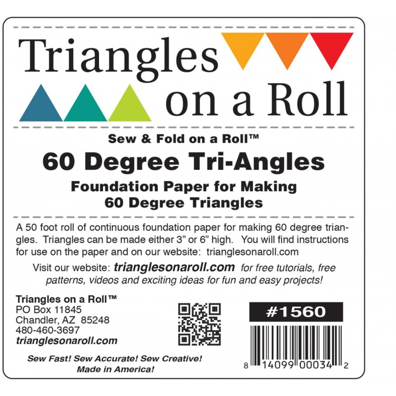 Triangles On A Roll 60 Degree Triangle TRIANGLES ON A ROLL - 1