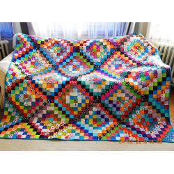 Modern Scrap Quilt for Sale
