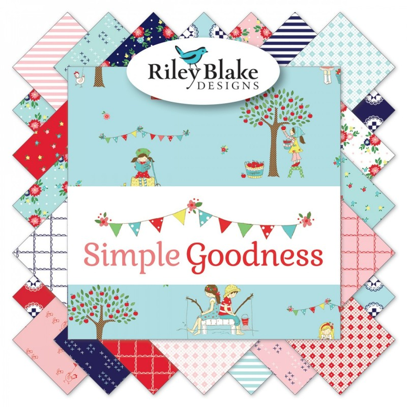 SIMPLE GOODNESS - CHARM PACK -42 ks RILEY BLAKE FABRICS - 1