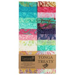 TONGA BATIK AURUBA- JELLY ROLL 20 ks Timeless Treasures - 1
