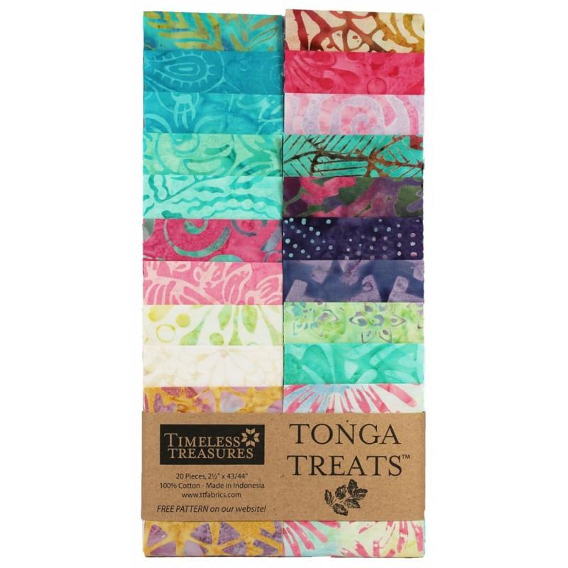 TONGA BATIK AURUBA- JELLY ROLL 20 ks Timeless Treasures - 1