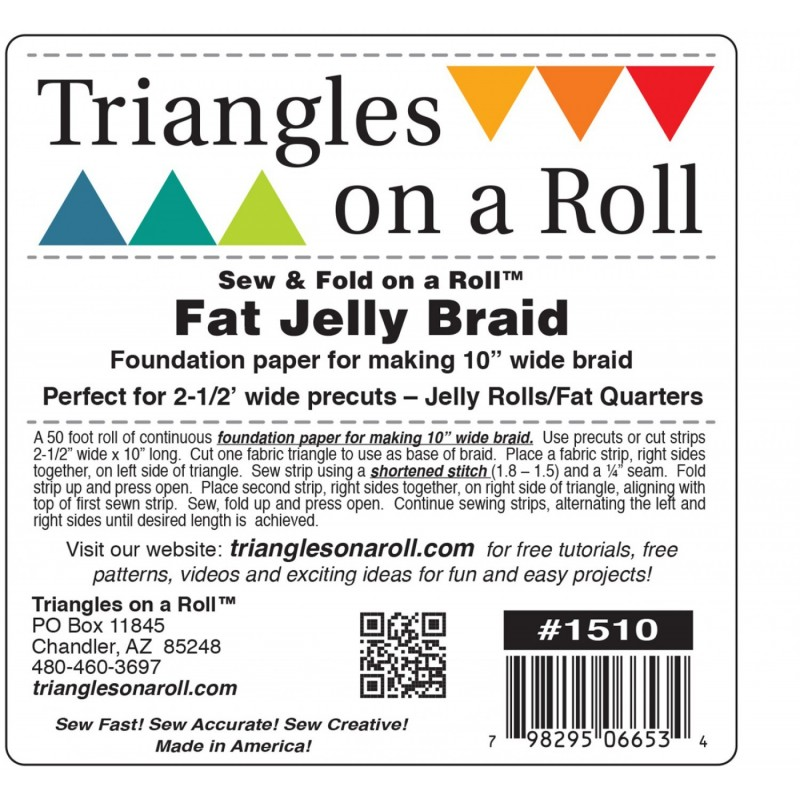Fat Jelly Braid Foundation Paper TRIANGLES ON A ROLL - 1