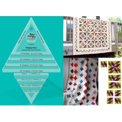 STRIPPY STARS TOOL 5in x 7-1/2in QUILT RULER CREATIVE GRIDS - 2
