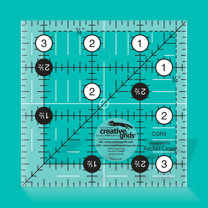 3 1/2 inch square CREATIVE GRIDS - 1