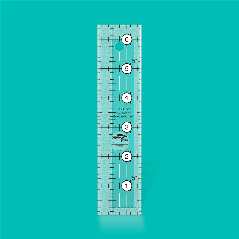 Quilt ruler 1 1/2 inch x 6 1/2 inch CREATIVE GRIDS - 1