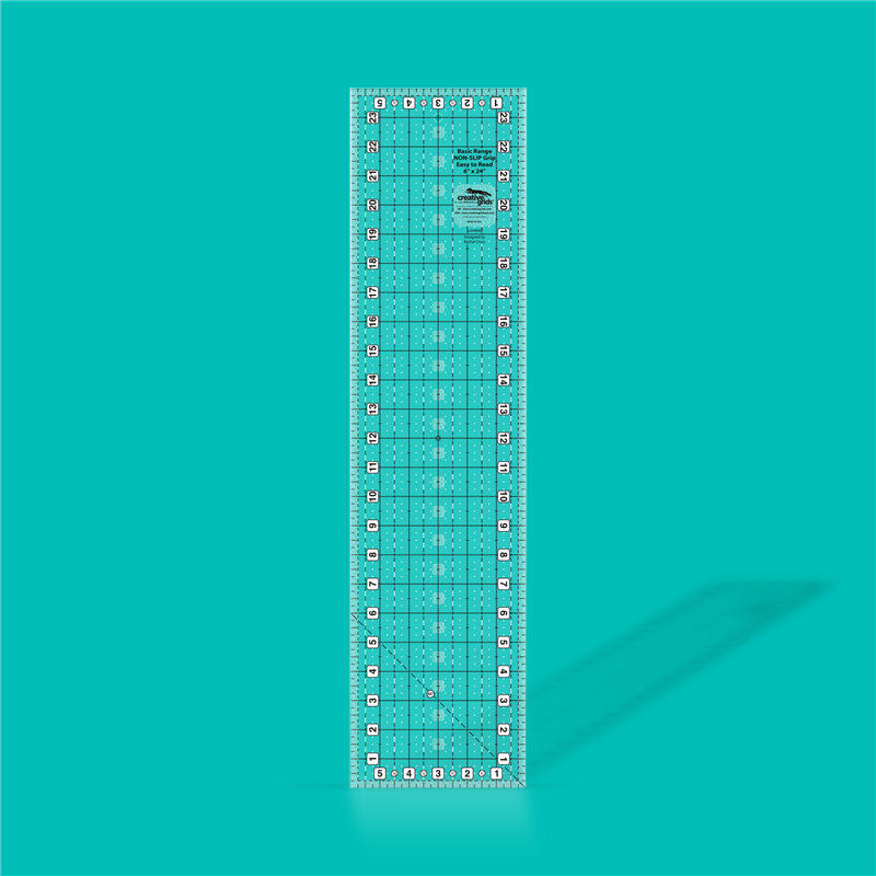 Basic range 6 inch x 24 inch rectangle quilt ruler CREATIVE GRIDS - 1