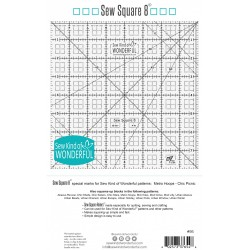 SEW SQUARE 8 RULER ©