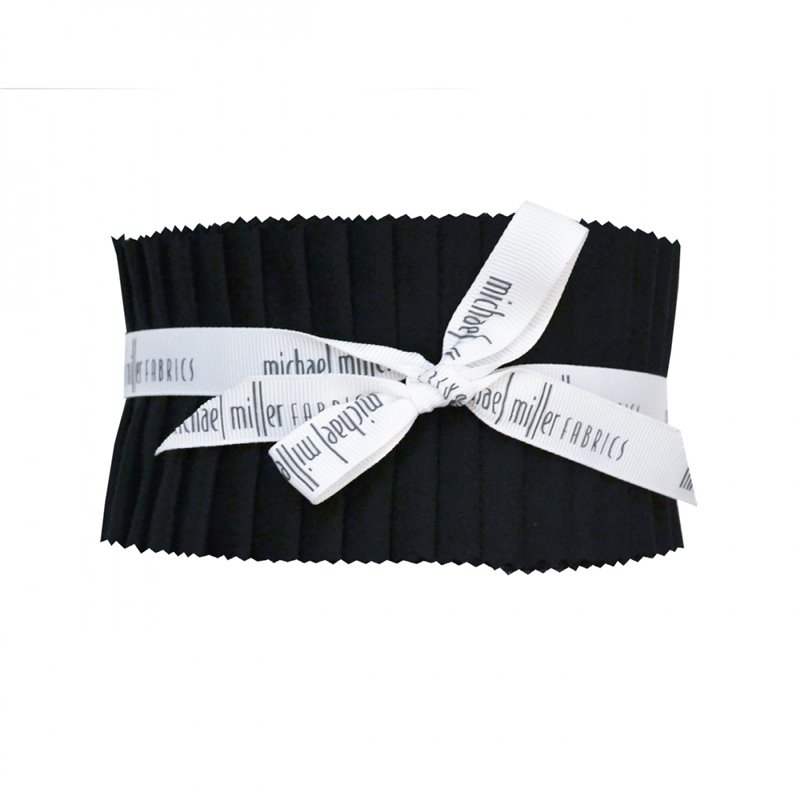 JET BLACK-BLACK SOLIDS JELLY ROLL