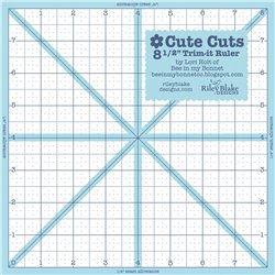 "Lori Holt Cute Cuts 8 1/2"" Square Ruler"